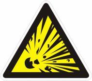 Наклейка Обережно! Небезпека вибуху 130 мм
