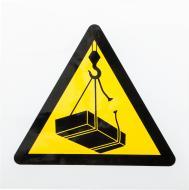 Наклейка Обережно! Працює кран 130 мм
