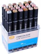 Набор двусторонних маркеров FINECOLOUR Brush Skin SET 24 цвета EF103-FS24 разноцветный