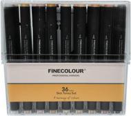 Набор двусторонних маркеров FINECOLOUR Brush Skin SET 36 цветов EF103-FS36 разноцветный