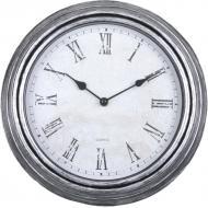 Годинник настінний 30 см блакитно-сірий, пластик, скло XINYINGXI 8756
