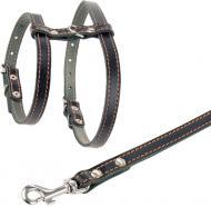 Повідець-шлея Collar для маленьких собак 1,6х120 см, чорний