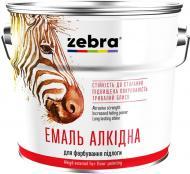 Эмаль ZEBRA алкидная для пола ПФ-266 серия Акварель 885 желто-коричневый глянец 0,9кг