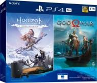 Ігрова консоль Sony PlayStation 4 Pro 1Tb (God of War + Horizon Zero Dawn CE) 9994602 black