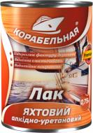 Лак яхтний алкідно-уретановий КОРАБЕЛЬНАЯ глянець безбарвний 0,75 л