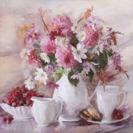 Репродукция Flowers 26 80-88 80x80 см