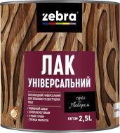 Лак універсальний серія Акварель ZEBRA глянець прозорий 2,5 л