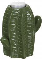 Подсвечник Кактус WW 2706-13,5 зеленый Eterna