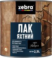 Лак Яхтний серія Акварель ZEBRA глянець прозорий 2,5 л