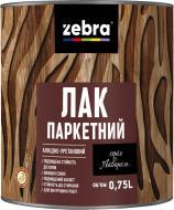 Лак паркетный серия Акварель ZEBRA глянец прозрачный 0,75 л