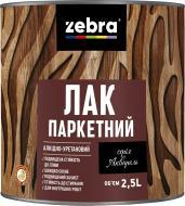 Лак паркетний серія Акварель ZEBRA мат прозорий 2,5 л