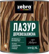 Лазурь ZEBRA Деревозащитная серия Акварель Каштан глянец 2,1 л