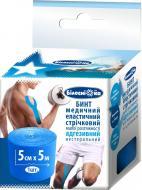Бинт еластичний Білосніжка адгезивний 5x500 см синій 1 шт.