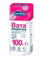 Вата Білосніжка медична гігієнічна нестерильна зиг-заг 100 г 1 шт.