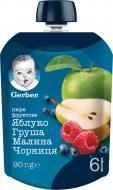 Пюре Gerber Яблуко, груша, малина, чорниця з 6 місяців 90 г 7613036345484