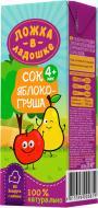 Сок Ложка в ладошке яблочно-грушевый 200 мл 4815396000819