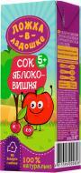 Сок Ложка в ладошке яблочно-вишневый 200 мл 4815396000826