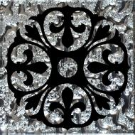 Плитка Grand Kerama Тако стекло Бутон платина рифленое 774 6,6x6,6
