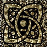 Плитка Grand Kerama Тако Галактика золото рифлена 775 6,6x6,6