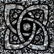 Плитка Grand Kerama Тако Галактика платина рифлена 779 6,6x6,6