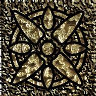 Плитка Grand Kerama Тако стекло Звезда золото рифленое 1110 6,6x6,6