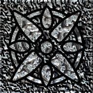 Плитка Grand Kerama Тако стекло Звезда платина рифленое 1111 6,6x6,6