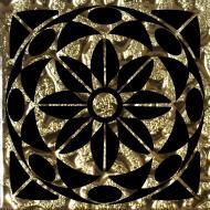 Плитка Grand Kerama Тако скло Леано золото рифлене 777 6,6x6,6