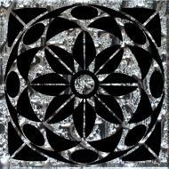 Плитка Grand Kerama Тако Леано платина рифлена 778 6,6x6,6