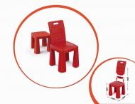 Пластиковый стульчик-табурет 04690 (Красный)