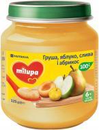 Пюре Milupa Груша, яблуко, слива, абрикос для дітей від 6 місяців 125 г 8591119004000