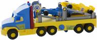 Транспортер Wader Super Truck з гоночними машинами 36620