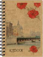 Книга для нотаток А6 80 аркушів на спіралі KR6180K Kraft