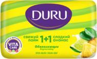 Туалетне мило Duru 1+1 Свіжий лайм та солодкий ананас 80 г 1 шт./уп.