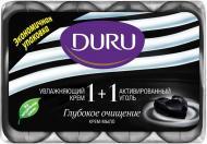 Мило Duru 1+1 Активоване вугілля та зволожуючий крем 360 г 4 шт./уп.