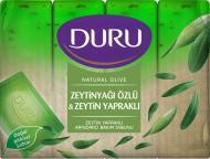 Туалетне мило Duru NATURAL з екстрактом оливкової олії та з листям оливи 600 г 4 шт./уп.