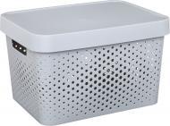 Ящик пластиковий Curver 229168 із кришкою Infinity сірий 220x360x270 мм