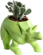 Кашпо Animal Land Трицератопс зелёный Дон Пион