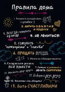 Картина Правила дома (рус.)(А3) Posterclub