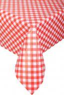 Скатертина Лайт 4731410а20 130x200 см червоний із білим УкрСкат