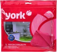 Салфетка универсальная York чудоабсорбирующая 43х32 см см красный