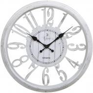 Годинник настінний Skeleton білий 40,7х4,6 см