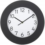 Годинник настінний Марті 30 см чорно-білий