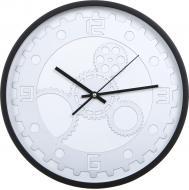 Годинник настінний Техно 35,5 см чорний