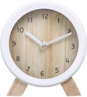 Годинник настільний Wood 15,2 см білий