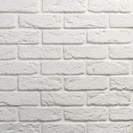 Плитка гіпсова пряма Саватекс Декор Цегла клінкерна біла 0,75 кв.м