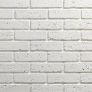 Плитка гіпсова пряма Саватекс Декор Цегла травертин біла 0,8 кв.м