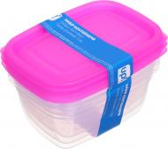 Набір контейнерів для харчових продуктів Eat&Go 950 мл рожевий 3 шт. UP! (Underprice)