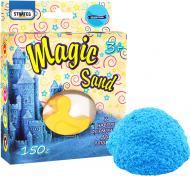 Кінетичний пісок Strateg Magic sand блакитного кольору з формочкою 150 г 39302