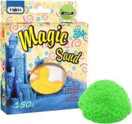 Кінетичний пісок Strateg Magic sand зеленого кольору з формочкою 150 г 39305