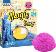 Кінетичний пісок Strateg Magic sand рожевого кольору з формочкою 150 г 39303